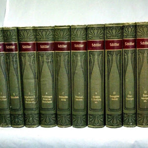 *Schillers Werke 14 Volumes Ludwig Bellermann Leipzig Bibliographical Institute