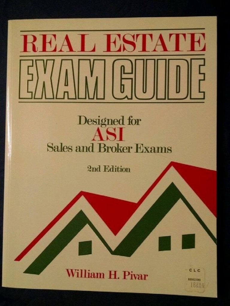 Real Estate Exam Guide (ASI) by William H. Pivar (1989, Paperback)