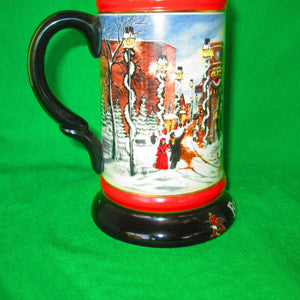 "Budweiser 1992 Christmas Beer Stein ""A Perfect Christmas"" - A Susan Sampson Design"