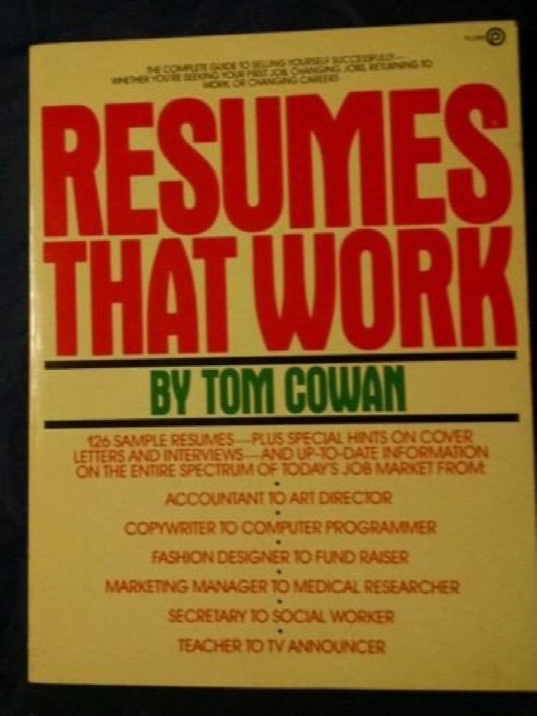 Resumes That Work by Tom Cowan (1983, Paperback)