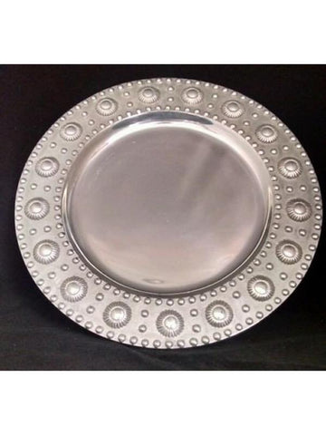 Nautica Silver Plated Port Hole Serving Tray Monarca Collection Barware Man Cave