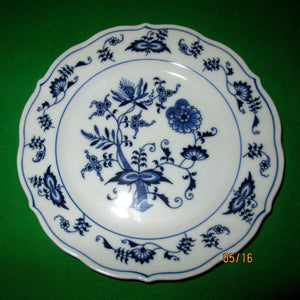 "A Pair (2) of Blue Danube Japan ""Blue Onion"" 6 3/4""  Bread & Butter Plates with the Rectangular Mark."