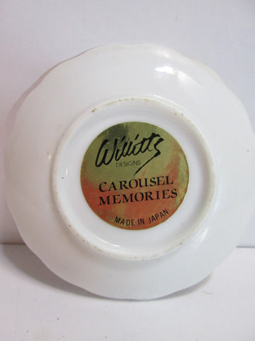 1987 Willitts Designs Carousel Memories Miniature Plate Mitchel Wu