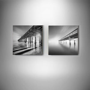 A Collection of 2 Moises Levy Black & White Photographs on Canvas - Gramma-zon