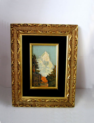 A pair Early 20th Century German Landscape Oil on Board Signed Pensl