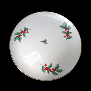 "PICKARD Holly Berry China 11.75"" Platter Christmas Holiday USA"