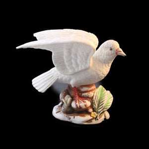 Dove of Peace Figurine Bisque Porcelain Sculpture