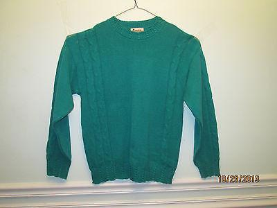 Antigua Men's Executive Sweater Large Green 100% Cotton