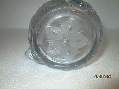 Cut Crystal Cream and Sugar Set Floral Pattern HEAVY Crystal (#1)