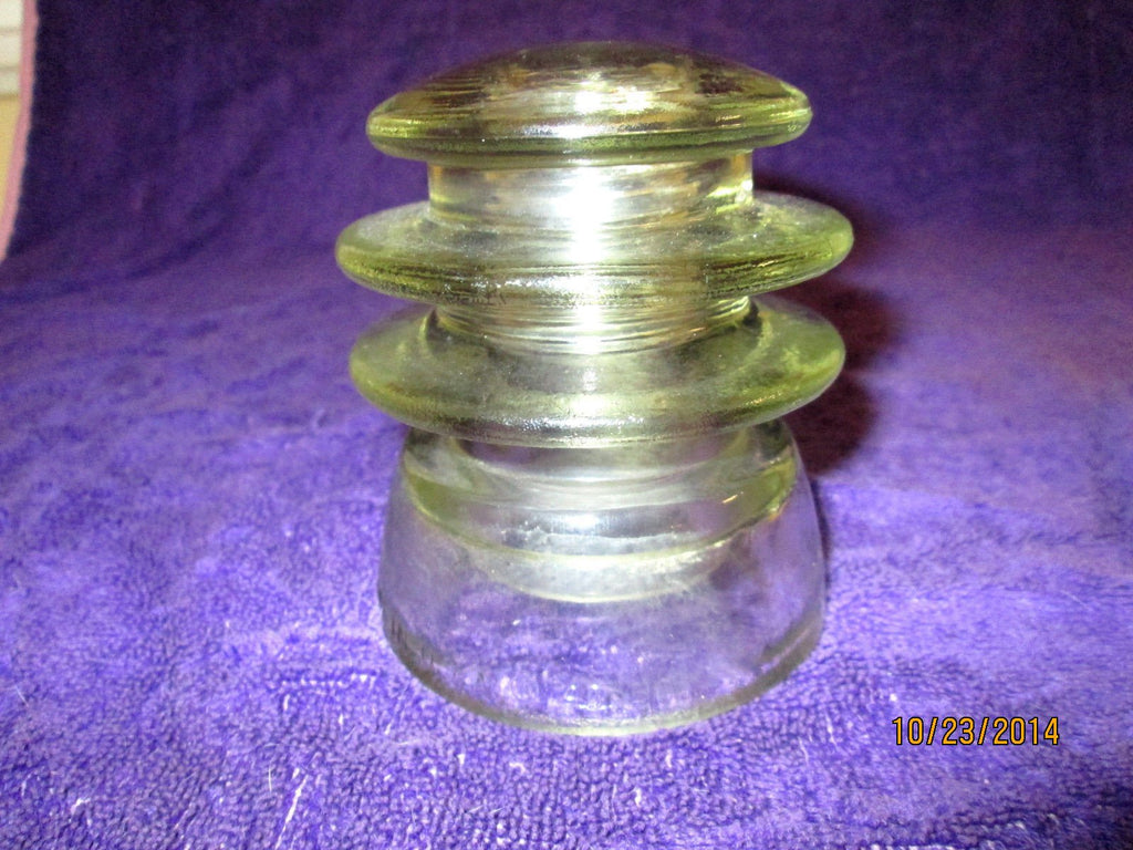 Vintage ARMSTRONG'S Amber Glass Electrical Insulator TW 43 50 Made in USA, 1960