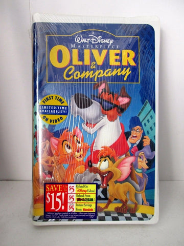 Walt Disney Oliver and Company Masterpiece Collection (VHS, 1996) NEW SEALED
