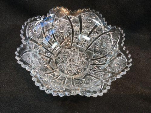 Imperial Glass EAPG Button & Daisy Flared Serving Bowl 8.5""