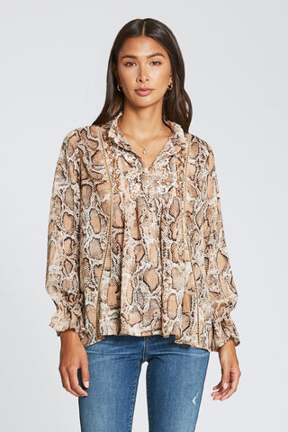 Dear John Denim- Amira Snake Print Top