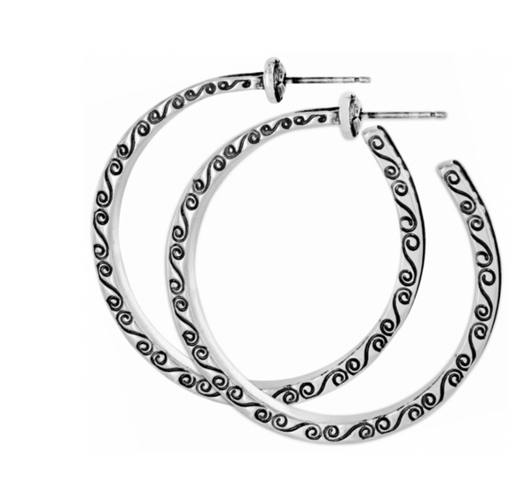 Brighton- Secret of Love Hoop Post Earrings