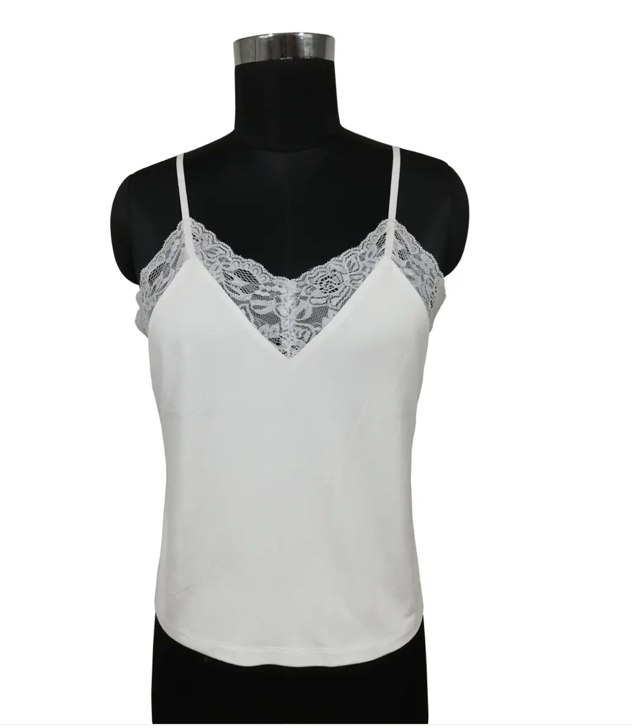 Benares- Lace Tank Top in White