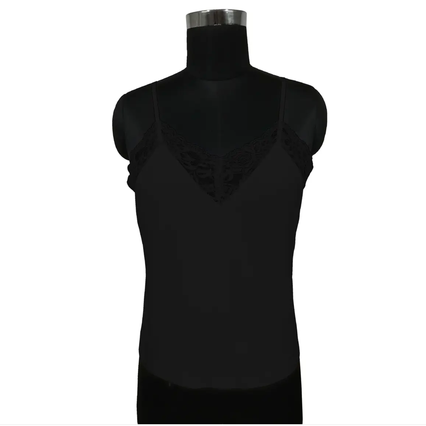 Benares- Lace Tank Top in Black