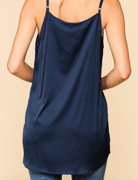 Gigio- Velvet Trimmed Cami in Assorted Colors