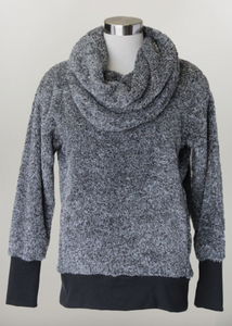 Brighton- Cowl Neck Cozy Sweatshirt in Black