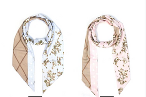 Fashion Lion- Multi-pattern Scarf in Pink or Blue