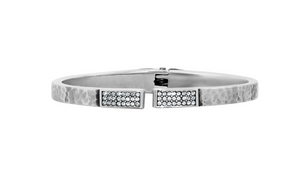 Brighton- Meridian Zenith Hinged Bangle in Silver