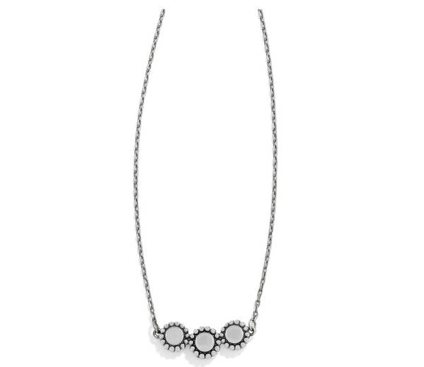 Brighton- Twinkle Triple Stone Necklace in Silver