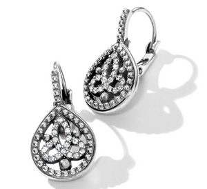 Brighton- Illumina Teardrop Leverback Earrings in Silver
