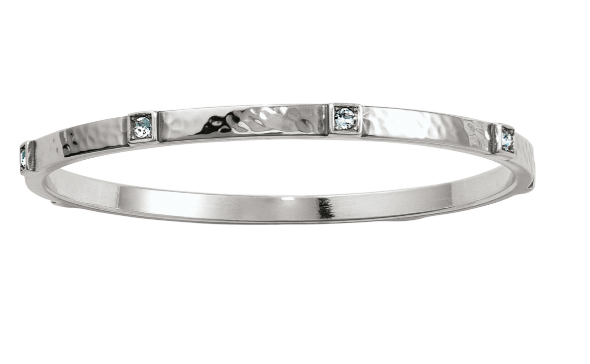 Brighton- Meridian Zenith Station Bangle in Silver