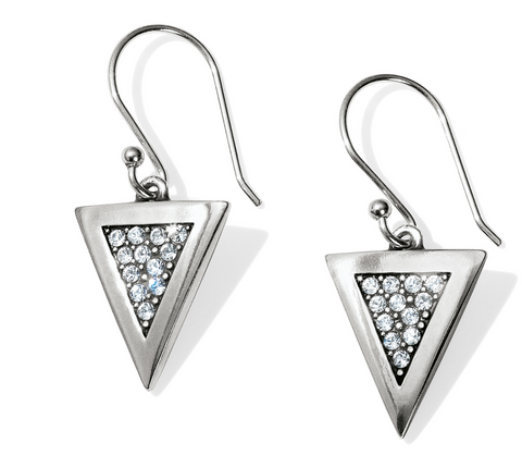 Brighton- Contempo Ice Reversible Triangle French Wire Earrings