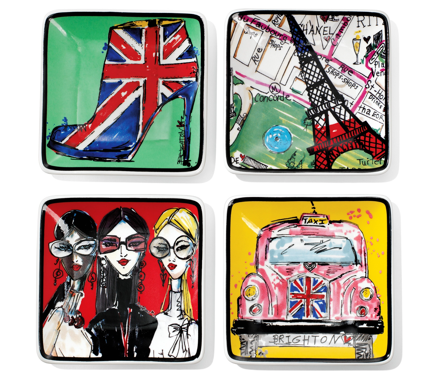 Brighton- Fashion Passport Trinket Tray Square