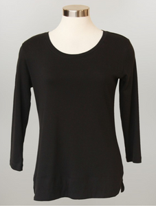 Keren Hart- Plus Size 3/4 Length Crew Neck Top