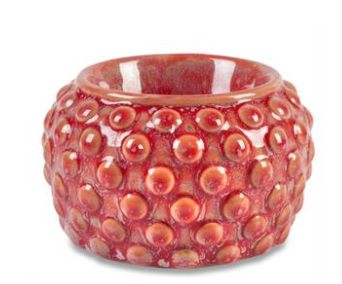 Bridgewater Candle Company- Red Hobnail Electric Warmer