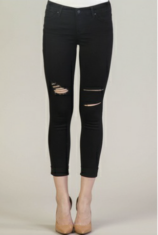 Dear John Denim- Joyrich Ankle Skinny in Carbon Black
