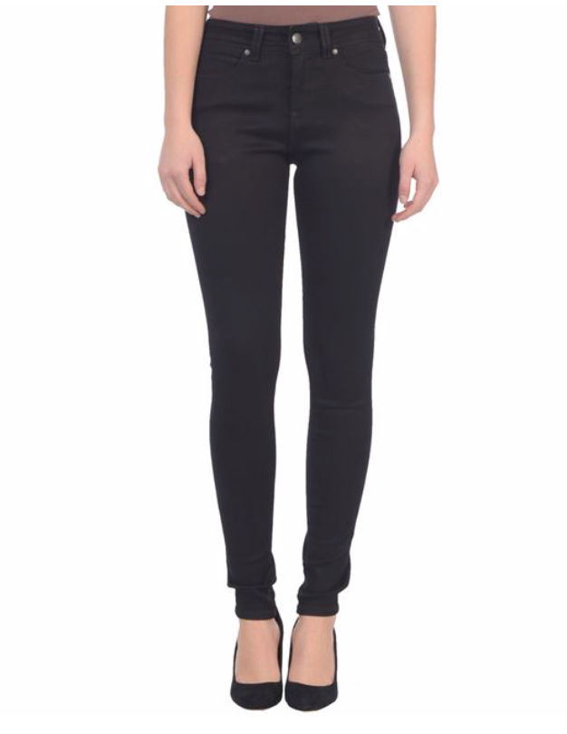 Lola Jeans- Alexa High Rise Skinny Button Up in Black