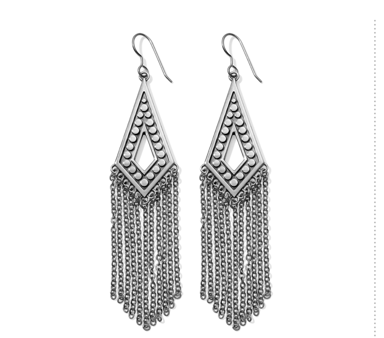 Brighton- Pebble Disc Fringe French Wire Earrings