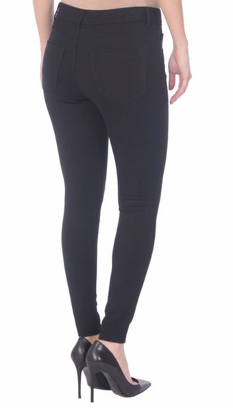 Lola Jeans- Claire Ponte Mid Rise Ankle Pants in Black