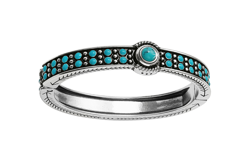 Brighton- Southwest Dream Turquoise Trail Hinged Bangle