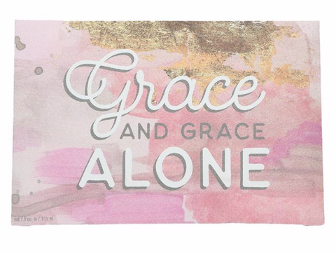 "Bridgewater Candle Company- ""Grace Alone"" Inspirational Quote Sweet Grace Scented Sachet"