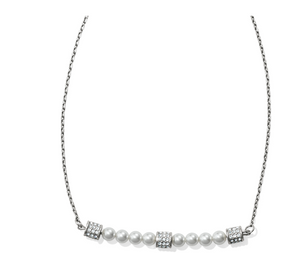 Brighton- Meridian Petite Pearl Bar Necklace