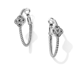 Brighton- Interlock Knot Rope Hoop Earrings