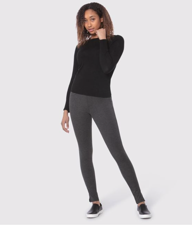 Lola Jeans- Anna Pull On Jersey Pant in Charcoal