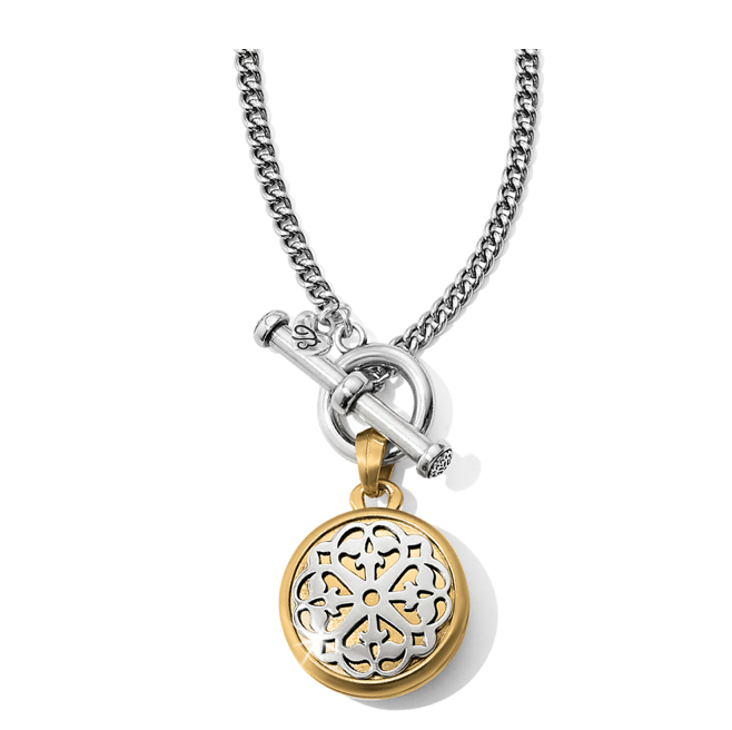 Brighton- Ferrara 2 Tone Double Locket