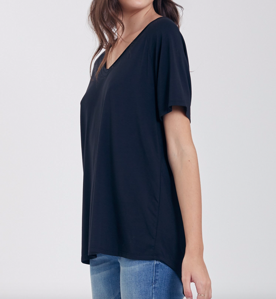 Another Love- Taylor V-Neck in Black