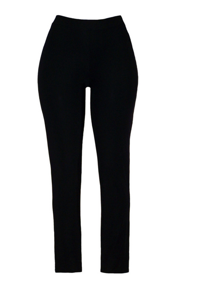 Valentina- Straight Pull Up Pant in Black
