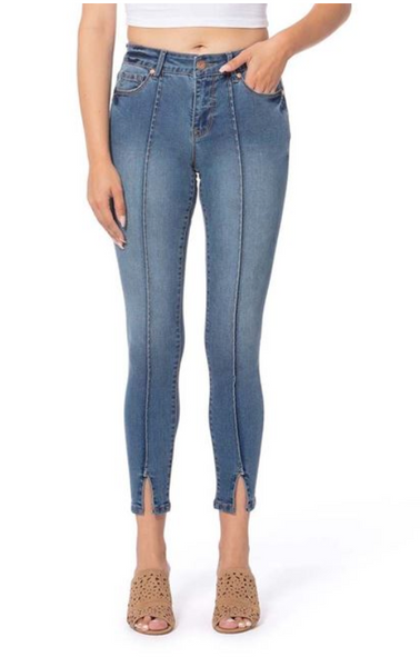 Lola Jeans- Blair Mid Rise Skinny Ankle in Royal Blue