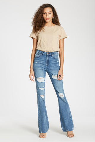 Dear John Denim- Aubrey Flare Super High Rise in San Gabriel