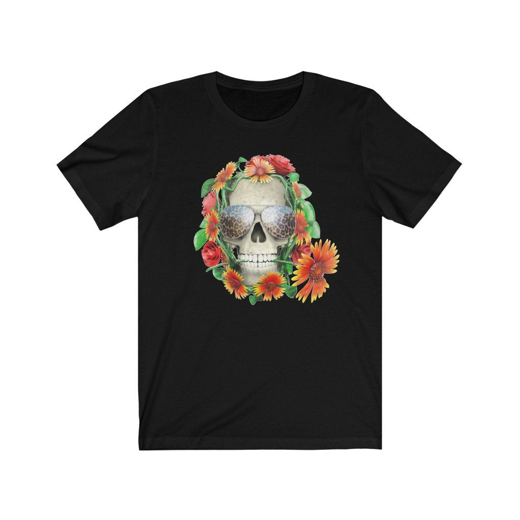 Ashford Apparel- Leopard Skull Tee in Black