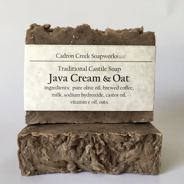 Java Cream and Oat Olive Oil Soap, Coffee Infused Milk Soap