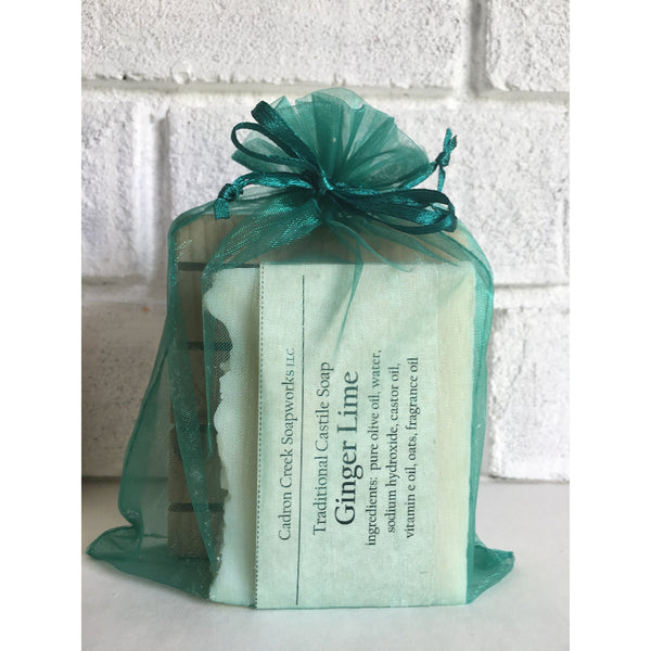Bulk Soap 1,  ONE Bar Soap and ONE Soap Deck Gift Set, Wrapped in Organza Gift Bag
