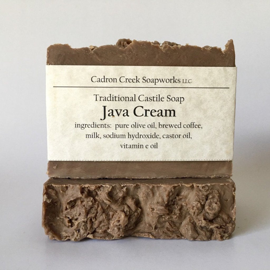 Java Cream Olive Oil Soap, Coffee Infused Milk Soap