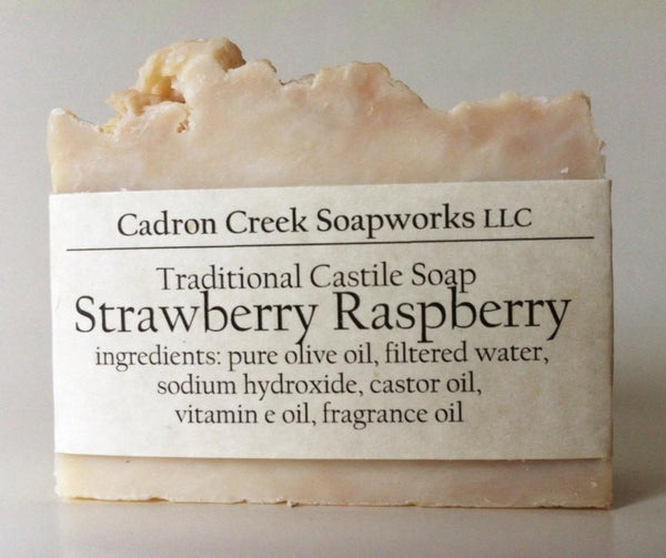 Traditional Castile Strawberry Raspberry Handmade Soap